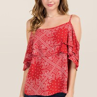 Rena Bandana Cold Shoulder Top