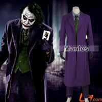 The Dark Knight Joker Costume Cosplay Custom Made