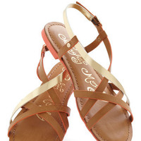 Furnish Your Portfolio Sandal in Tan | Mod Retro Vintage Sandals | ModCloth.com