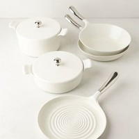 Liquida Collection Ceramic-Coated Cookware in White Size: