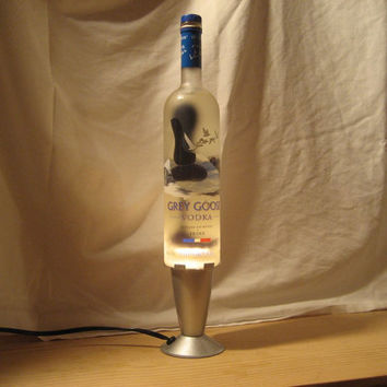 Lava Lamp Light Grey Goose Vodka 750 ML