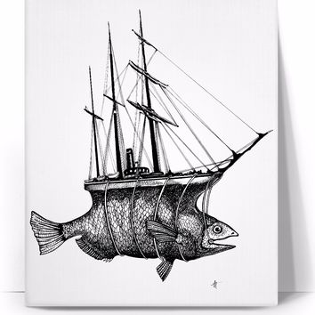Fish Boat (Collaboration With Art Milford)