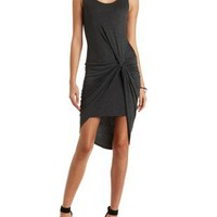 Knotted Asymmetrical Bodycon Dress