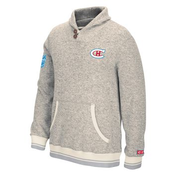Montreal Canadiens 2016 NHL Winter Classic CCM Shawl Popover Sweater Knit Hoodie (Oatmeal)