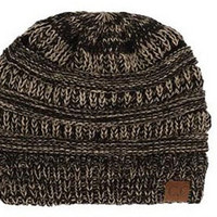 Mix Color Knitted CC Beanie