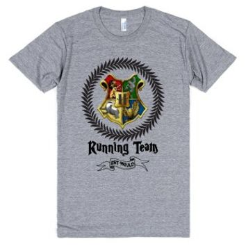 Hogwarts Running Team-Unisex Athletic Grey T-Shirt