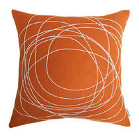 Bholu Nimboo Pillow in dark orange/cream