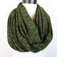 khaki  scarf,infinity scarf, scarf, scarves, long scarf, loop scarf, gift