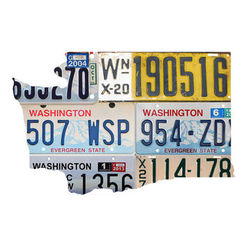 Washington License Plate wall decal