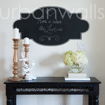 Chalk Wall Decal, Frame, Home is Where the Heart Is