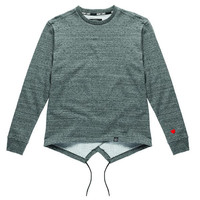 MASSIV. - Chelsey Fishtail Crew - Marled Grey