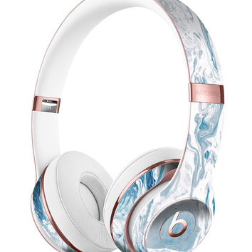 Mixtured Blue 57 Textured Marble Full-Body Skin Kit for the Beats by Dre Solo 3 Wireless Headphones