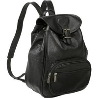 AmeriLeather Ladies' Leather Backpack (Black)