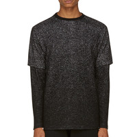 Public School Black Speckled Layered Sweater