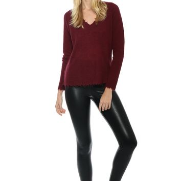 Decker Luxe Distressed Cashmere Sweater