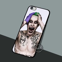 The Joker Jared Leto - iPhone 7 6 5 SE Cases & Covers #movie #superheroes