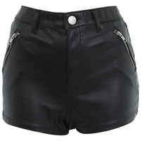PU Shorts - Shorts - Clothing - Miss Selfridge