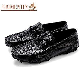 Men's Loafers Shoes Men's Casual Shoes High Quality Crocodile Luxury Outdoor Shoes Soft Shoes