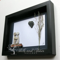 Limited Edition Unique Couple's Gift - Personalized Engagement Gift - Couple's Pebble Art - Engagement Gift - Wedding Gift - Life Partners