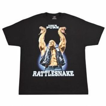 Stone Cold Steve Austin 100% Pure Rattlesnake Retro T-shirt - Size: Adult Medium