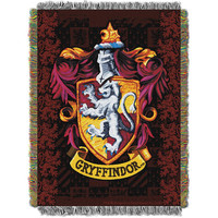 Harry Potter (Gryffindor) Woven Tapestry Throw (48inx60in)
