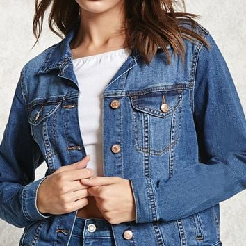 Classic Buttoned Denim Jacket