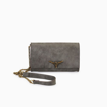 Vegan Leather Crossbody Bag With Antler Closure | Wet Seal