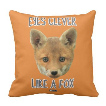 Eyes Clever Design by Kat Worth Throw Pillow