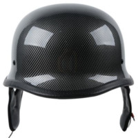 German Carbon Fiber Motorcycle Cruiser Chopper Half Helmet