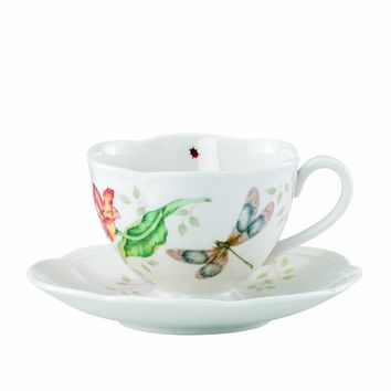Lenox Butterfly Meadow Dragonfly Cup and Saucer Set