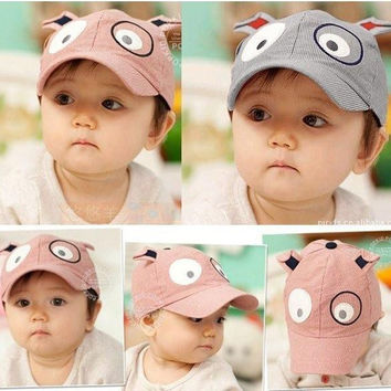 Choice of Cute Doggie Face Baby Hats