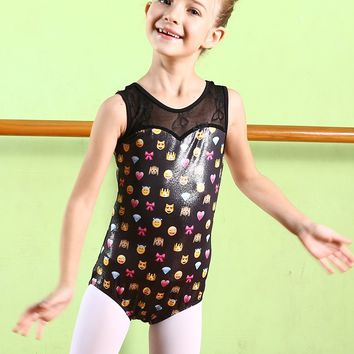 2018 Summer Dance & Gymnastics Emoji Mix Leotards Pre Order