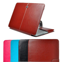 "1Pc Vintage PU Leather Skin Sleeve Laptop Case Cover For Apple Macbook Air Pro Retina 11"" 13"" 15"" Free Shipping"
