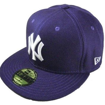 ESBON New York Yankees New Era MLB Authentic Collection 59FIFTY Caps Blue-White