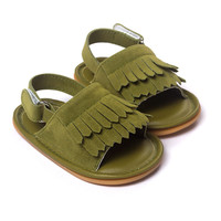 Olive-PU Baby Sandals