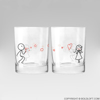 From My Heart to Yours™ Couple Drinking Glass Set
