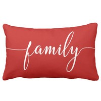 Family Christmas Pillow Modern Script