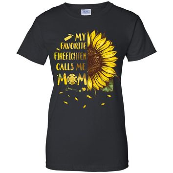 Sunflower My Favorite Firefighter Calls Me Mom Mothers Day Gift