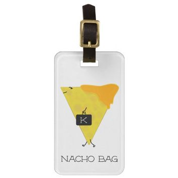 NACHO BAG Personalized Tortilla Chip with Cheese Luggage Tag