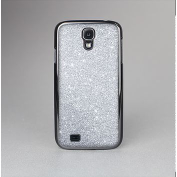 The Silver Sparkly Glitter Ultra Metallic Skin-Sert Case for the Samsung Galaxy S4