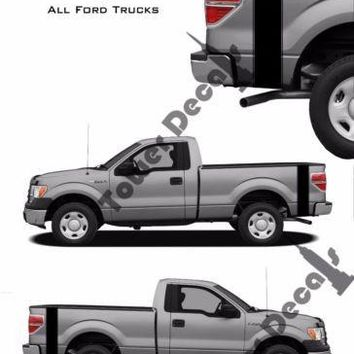 Dual Pinstripe Truck Bed Side Stripes Vinyl Decals Fits Ford F150 F250 F350