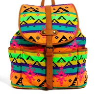 ASOS | ASOS Backpack in Fluro Aztec at ASOS