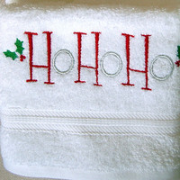 Perfect gift ,Christmas gift, a set of 2 pcs embroidered guest towels, egyptian cotton 100%