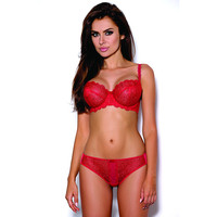 Indra B111 Vertical Bra and C200 Thong Christmas Set