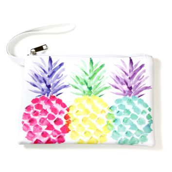 Pineapple Trio Wristlet