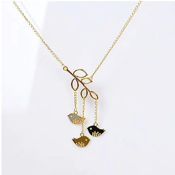 We R Family Necklace Includes 3 Birds Together