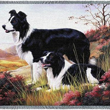 Pure Country 1123-T Border Collie Pet Blanket, Various Blended Colorways, 53 by 70-Inch