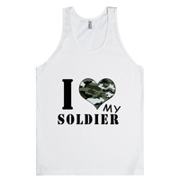 i love my soldier tank top