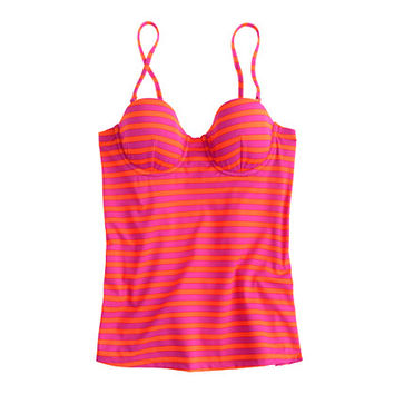 J.Crew Womens D-Cup Sailor-Stripe Underwire Swing Top