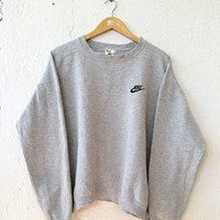 Nike: Fashion Sports Sweater Girl Men B-KWKWM Grey